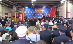 100th anniversary of South Beach's Ladder 81. Photo: Sam Villalobos.