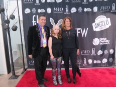 Life-Wire's Edward Gregory with Madeline Stuart and Meg O'Connell, fojunder of Global Disability Inclusion.