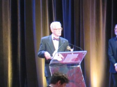 """CBS Morning News"" Correspondent Bill Geist, accepting the Governors' Award. Photo: Meredith Arout for Life-Wire News Service."