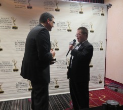 WXXI Exec. Producer Todd McCammon with Eric Schwacke. Photo: Meredith Arout for Life-Wire News Service.