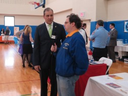 Steven Filoramo interviews Sen. Andrew J. Lanza. Photo by Raheim Gladden for Life-Wire News Service.
