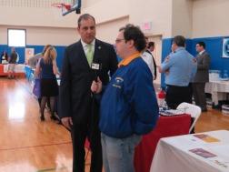 Steven Filoramo interviews Sen. Andrew J. Lanza. Photo by Raheim Gladden for Life-Wire News Service.