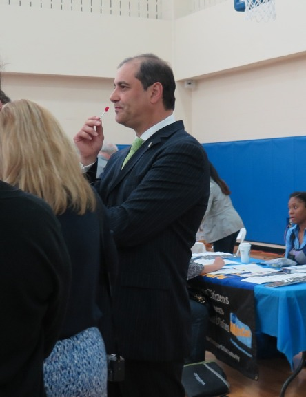Sen. Andrew Lanza (right) at the Special Needs Resource Fair. Photo by Raheim Gladden for Life-Wire News Service.