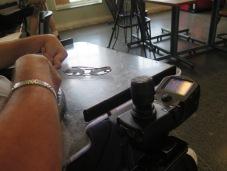 Joseph Padalino's chair. Photo: Dolores Palermo for Life-Wire News Service