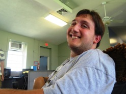 Joseph Padalino in his chair. Photo: Dolores Palermo for Life-Wire News Service